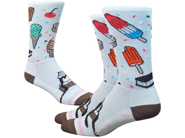 """DeFeet Aireator 6"""" Calze, iscream (white/brown/pink)"""